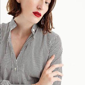 J. Crew button up shirt gray stripe size 2